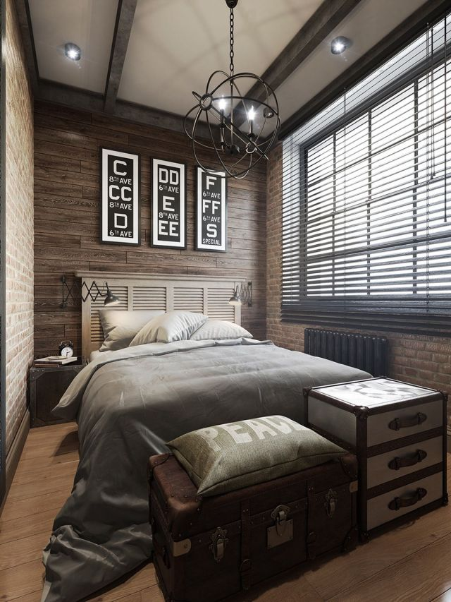 03 Industrial Style Bedroom Design