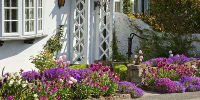 14 Simple front garden but still beautiful