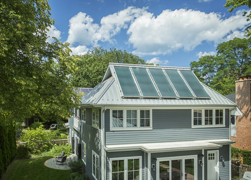 solar-thermal-panels-on-a-metal-roof