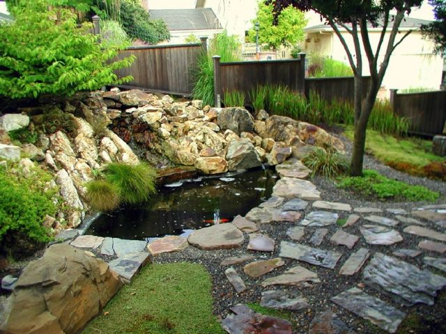 Garden Backyard Design Ideas With Fish Ponds 03