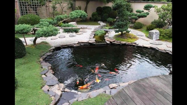 Garden Backyard Design Ideas With Fish Ponds 05