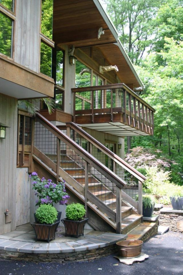 Design of Rustic Style Outdoor Stairs 1
