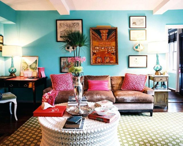 Ala Bohemian Modern Apartment Design with Blue Domination
