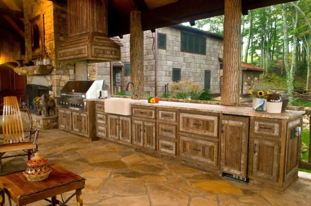 Rustic Style Outdoor Kitchen 5