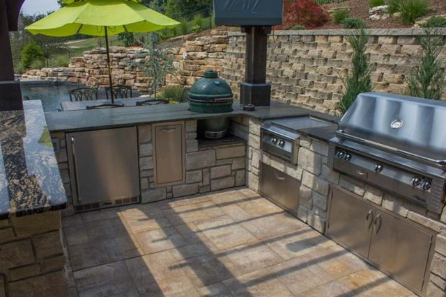 Industrial Style Outdoor Kitchen 4
