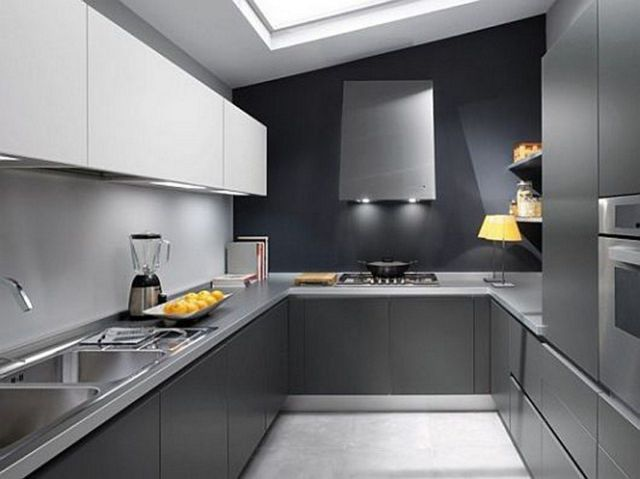 Minimalist Kitchen with Gray Touch
