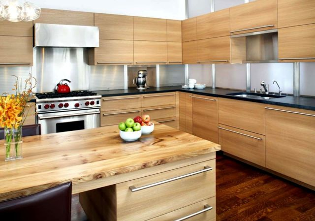 Minimalist Kitchen Furniture all Wood