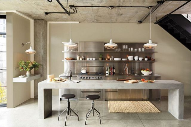 Minimalist Kitchen with Industrial Style