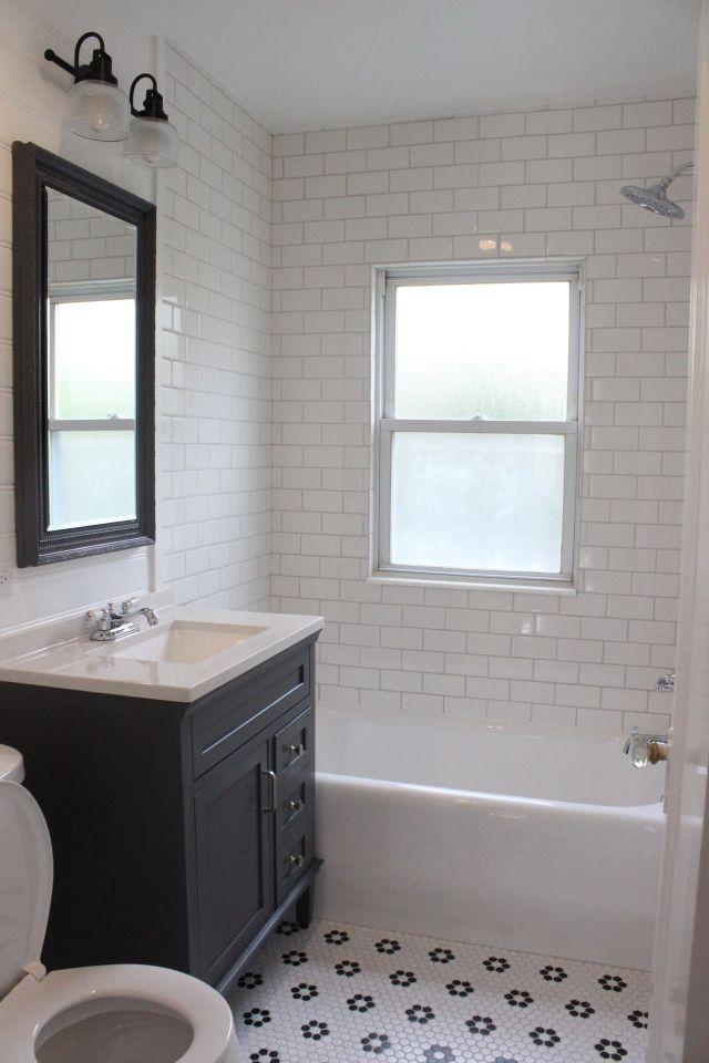 3 Farmhouse Bathroom with Bold Color Tiles