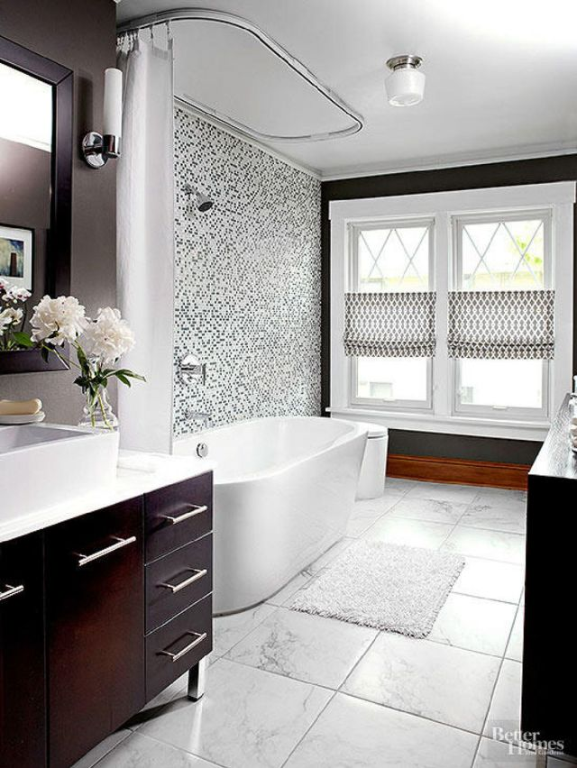 3 Black and White Bathroom Ideas