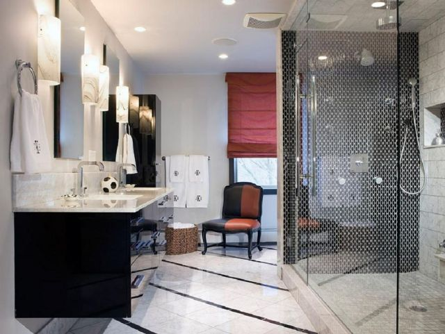 3 Black and White Bathroom Designs