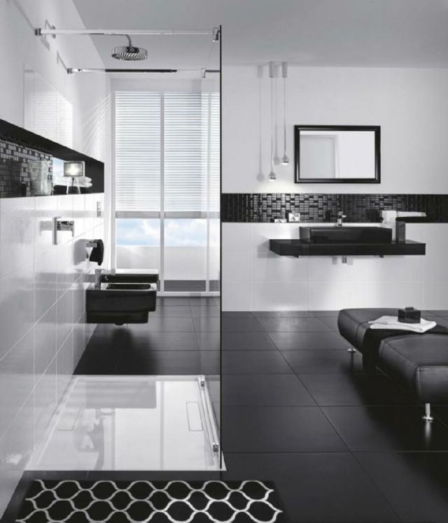 3 Black and White Bathroom Designs Ideas