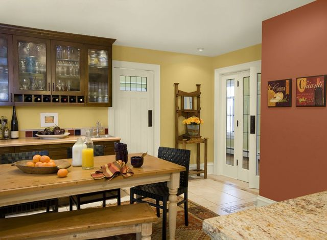 Ideas for Wall Paint Color Combination in the Kitchen 1