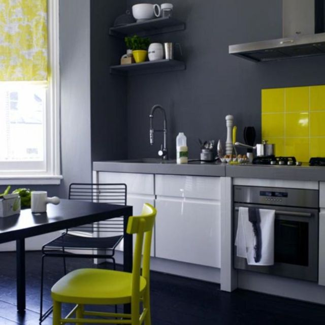 Ideas for Wall Paint Color Combination in the Kitchen 2