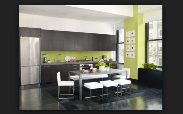 Ideas for Wall Paint Color Combination in the Kitchen 5