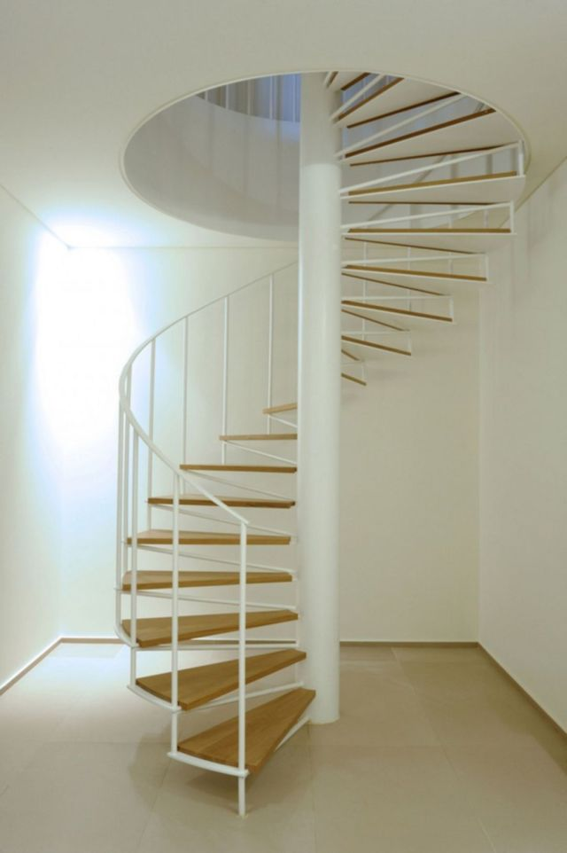 Minimalist Stair Design Ideas with Spiral Designs 2
