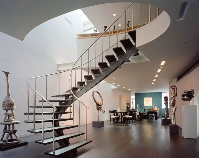 Minimalist Stair Design Ideas with Spiral Designs 5