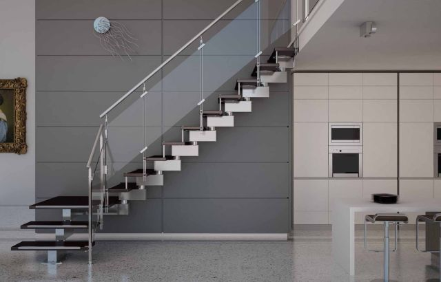 Minimalist Staircase Glass Design Ideas 3
