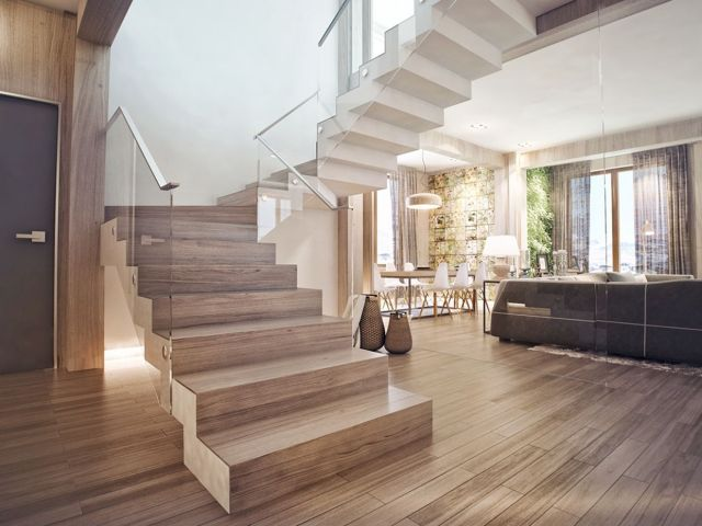 Modern Rustic Stair Design Ideas for Your Minimalist Home 3