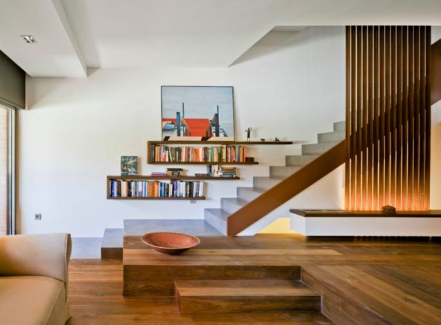 Modern Rustic Stair Design Ideas for Your Minimalist Home 5