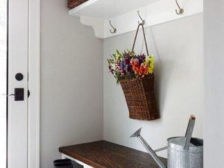 Elegant White Entryway Decorating Ideas With Flowers .jpg