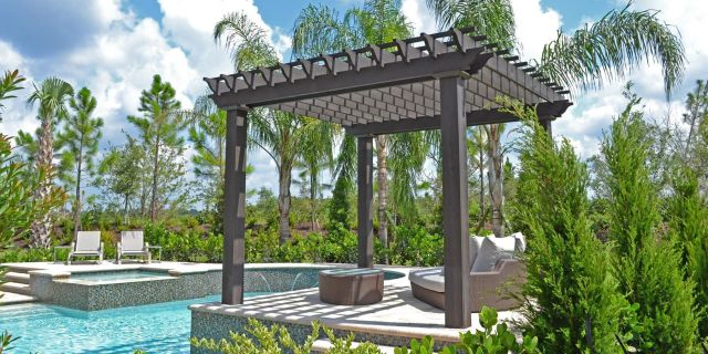 Gazebo Design Ideas Next to the Pool
