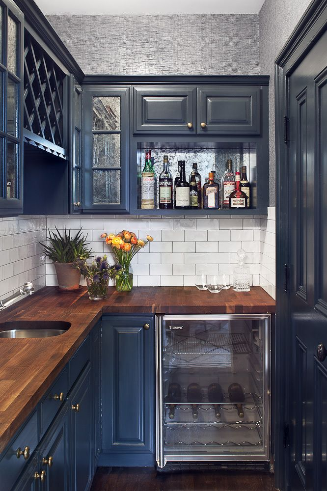 Kraftmaid Midnight Blue Kitchen Cabinets