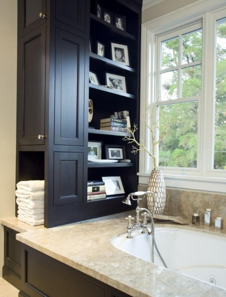 Beautiful white bathroom storage furniture #bathroomstorageideas #bathroomideas #bathroom #halfbathroom