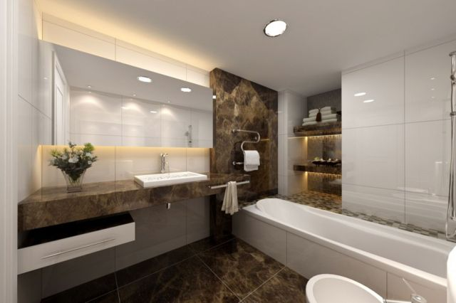2 Modern Luxury Bathrooms Designs