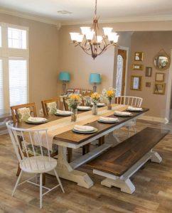 Enhance Dinning Room With Farmhouse Table 77