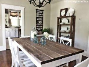 Enhance Dinning Room With Farmhouse Table 79