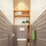 Space Saving Toilet Design for Small Bathroom 188