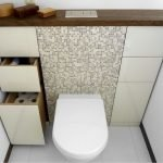 Space Saving Toilet Design for Small Bathroom 32