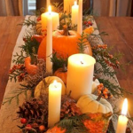 Add Warmth to Your Gathering Thanksgiving Decoration 155