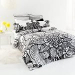 Black and White Bedding Sets For Your Dramatic Bedroom 21