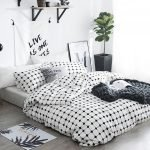 Black and White Bedding Sets For Your Dramatic Bedroom 30