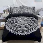 Black and White Bedding Sets For Your Dramatic Bedroom 73