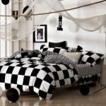Black and White Bedding Sets For Your Dramatic Bedroom 97