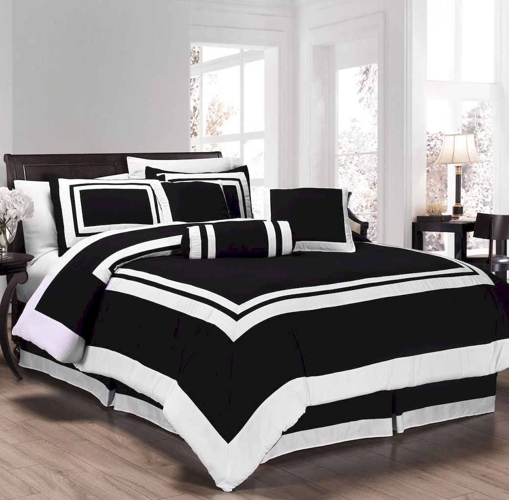 Black and White Bedding Sets For Your Dramatic Bedroom 148