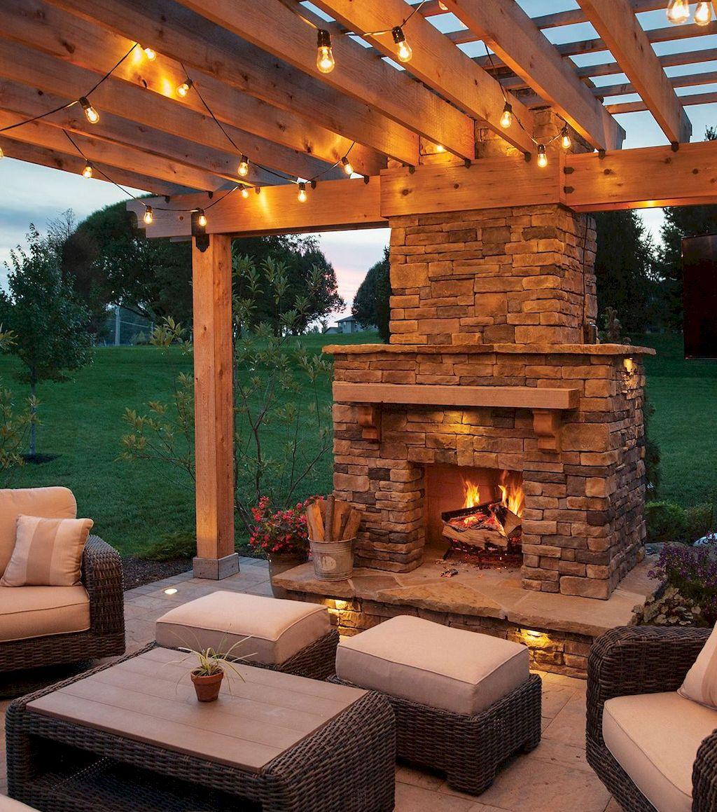 Backyard Fireplace014