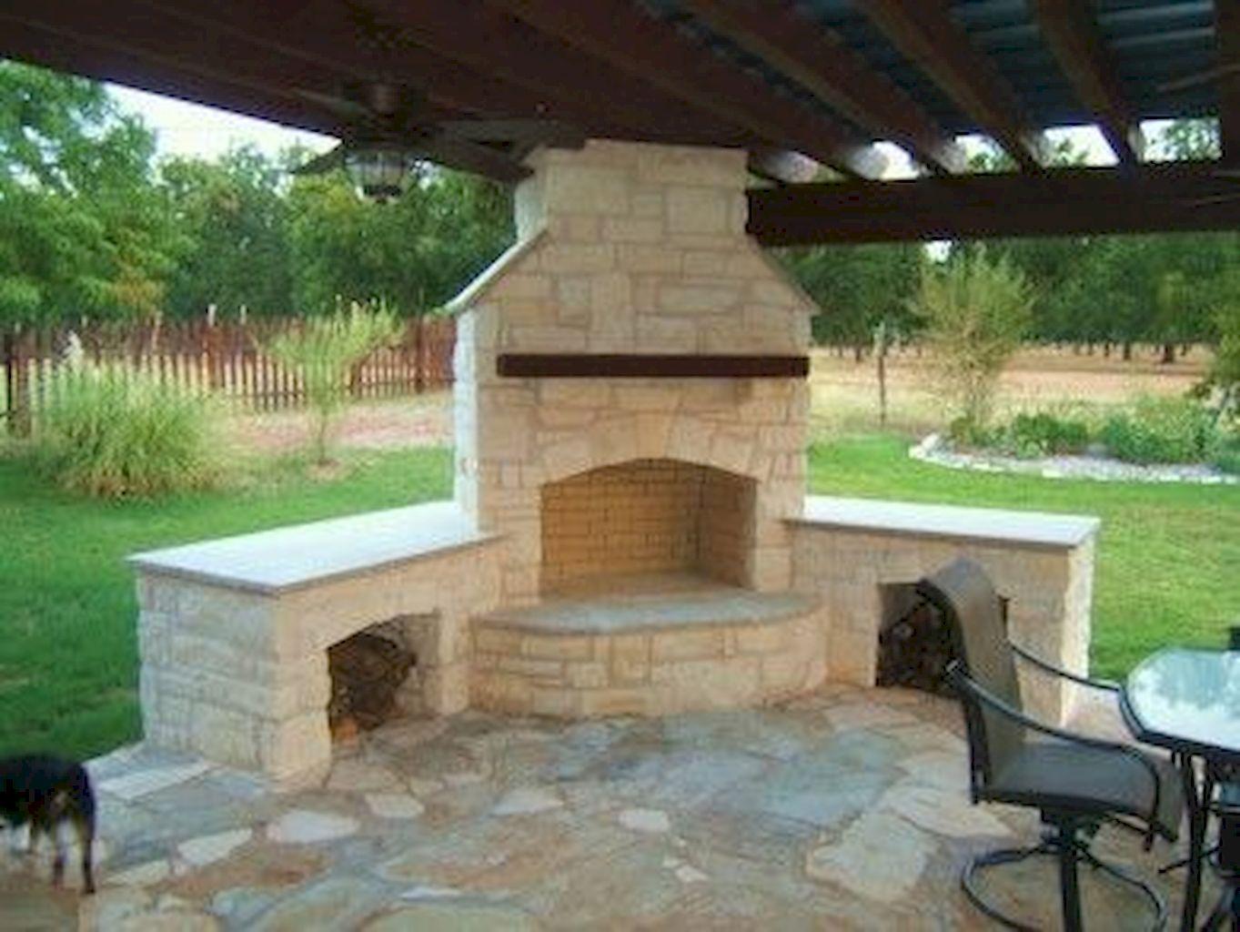 Backyard Fireplace024