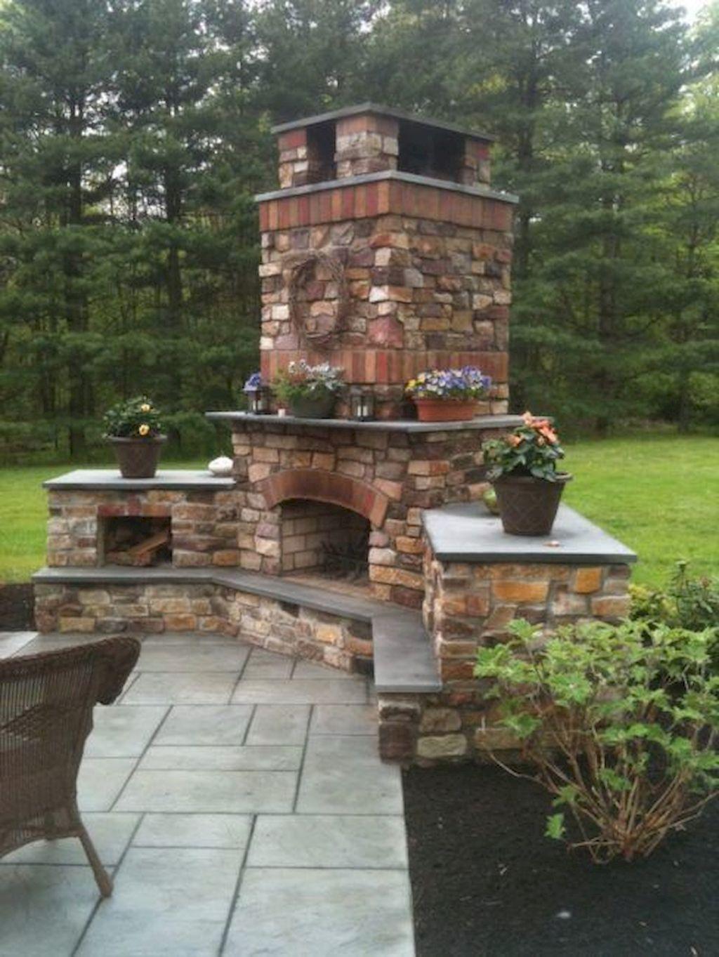 Backyard Fireplace046