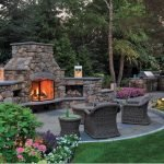 Ultimate Backyard Fireplace Sets The Outdoor Scene 154