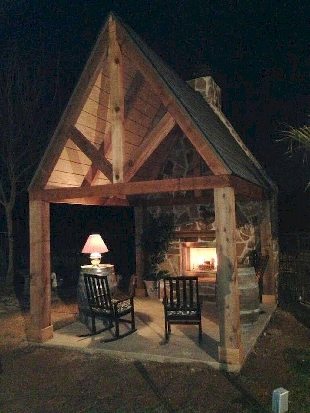 Backyard Fireplace066