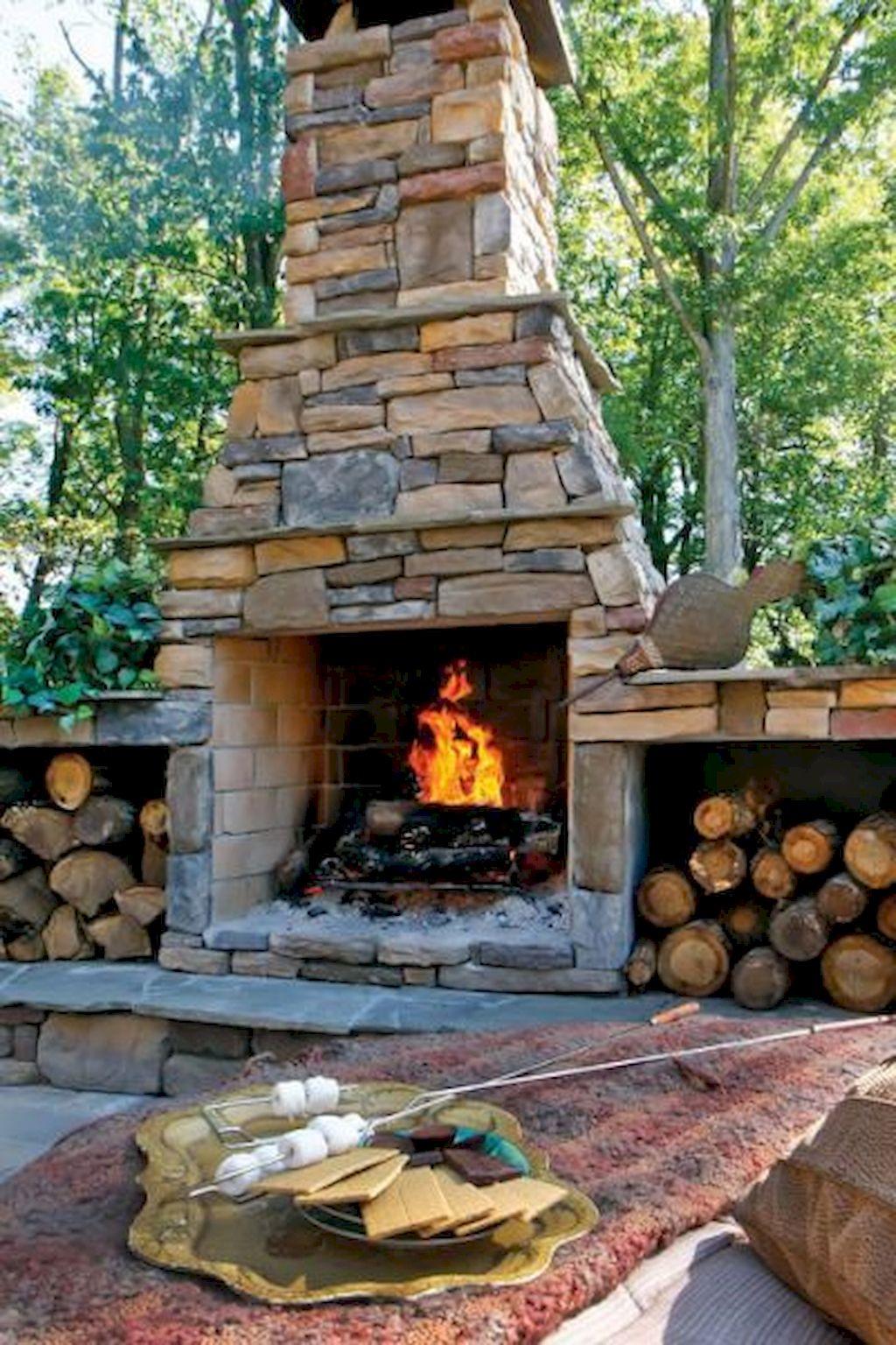 Backyard Fireplace070