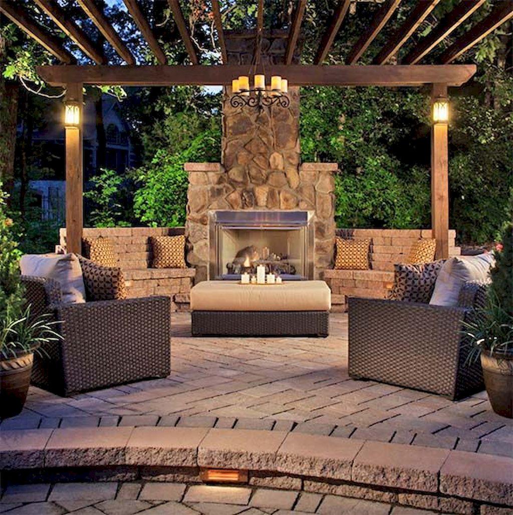 Backyard Fireplace071