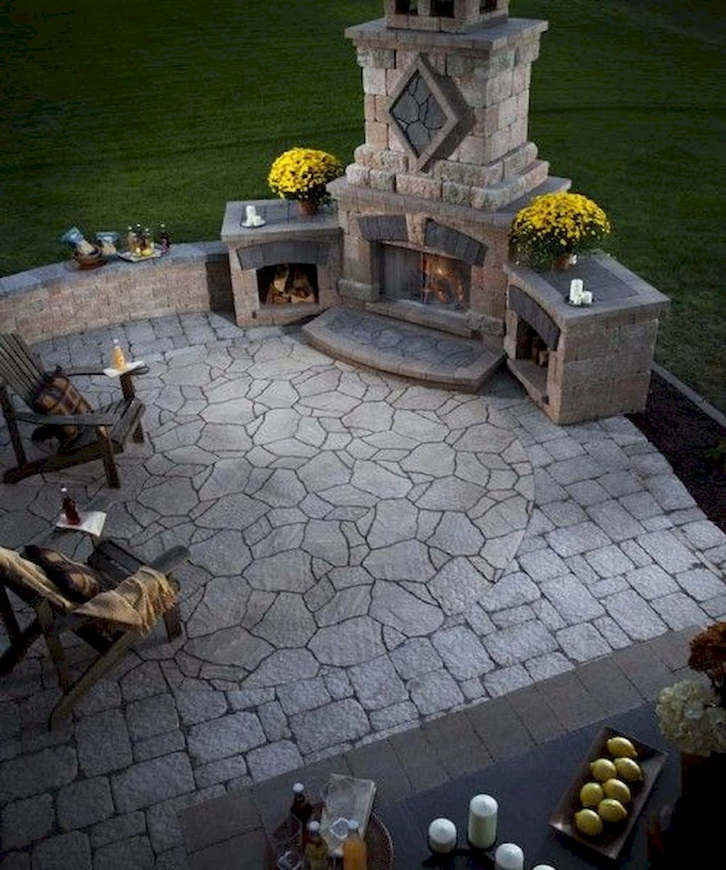 Backyard Fireplace076