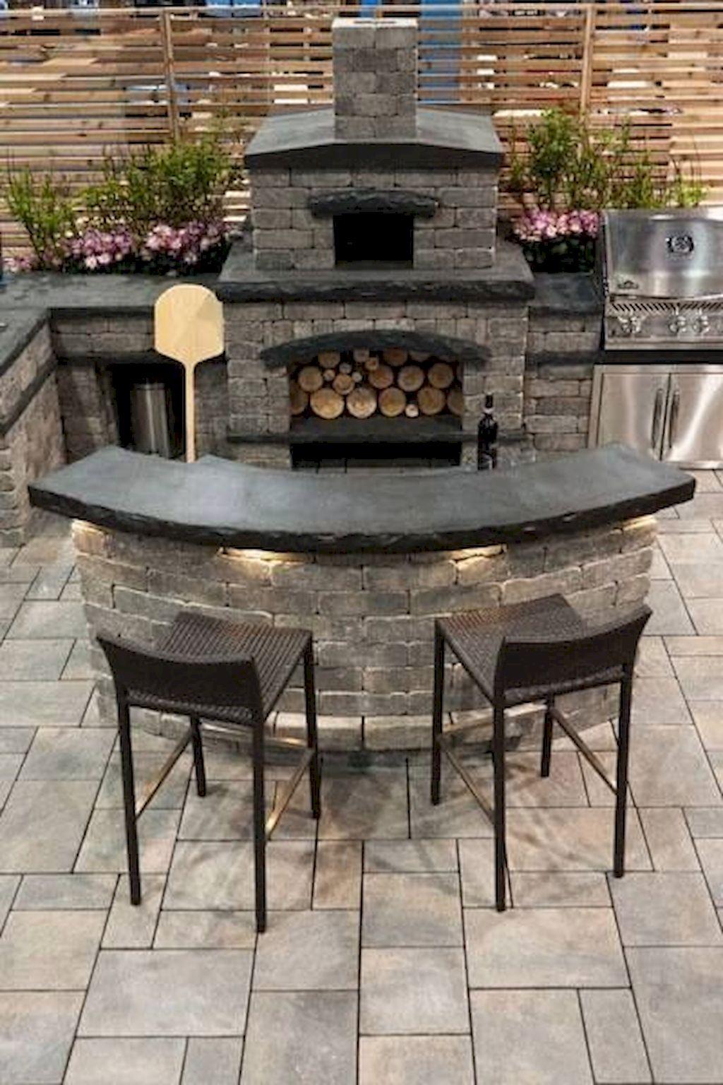 Backyard Fireplace088