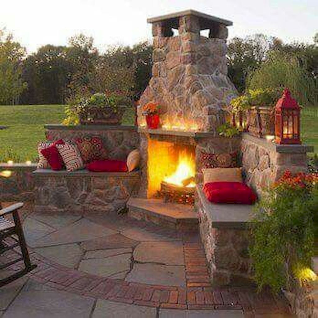 Backyard Fireplace100