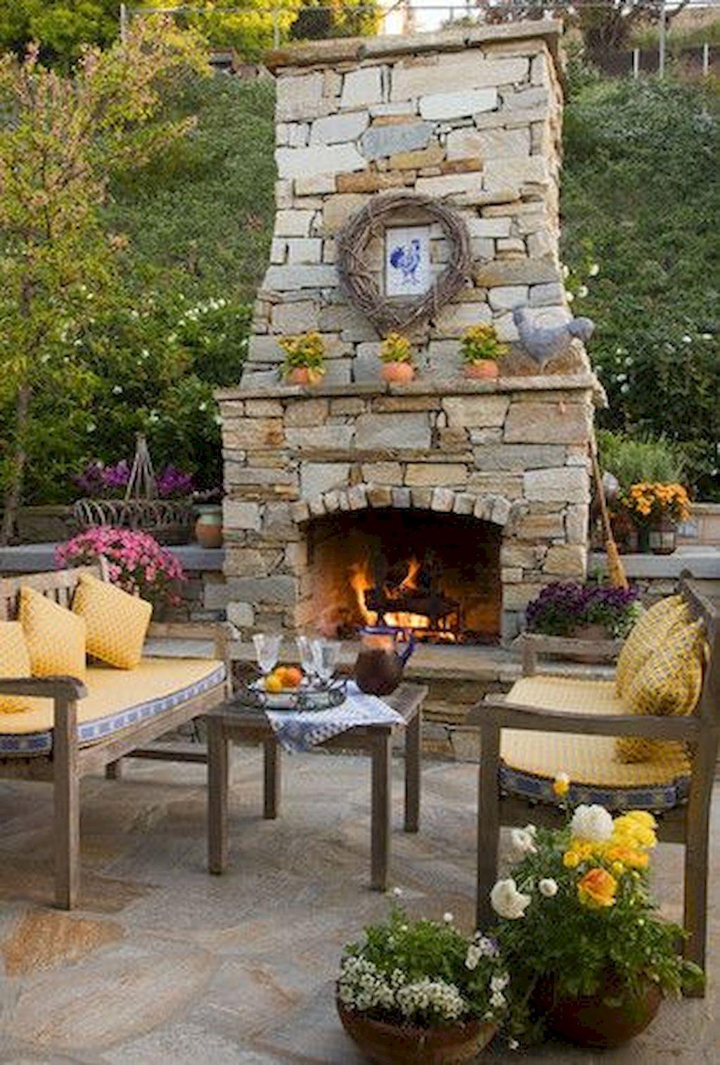 Backyard Fireplace123